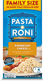 Menu Item Pasta Roni Family Size Parmesan Cheese