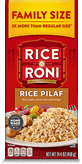Menu Item Rice A Roni Family Size Rice Pilaf