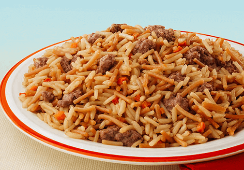 Seasoned Beef and Rice