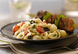 Herb and Tomato White Cheddar Pasta with Vegetables)