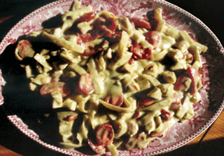 Pesto Fettuccine with Cooked Turkey Recipe